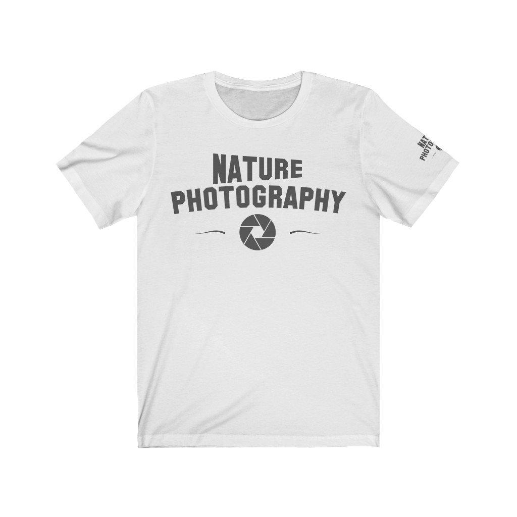 Fotograaf T-shirt cadeau: Nature Photography - Wit Jersey T-shirt met korte mouwen, unisex