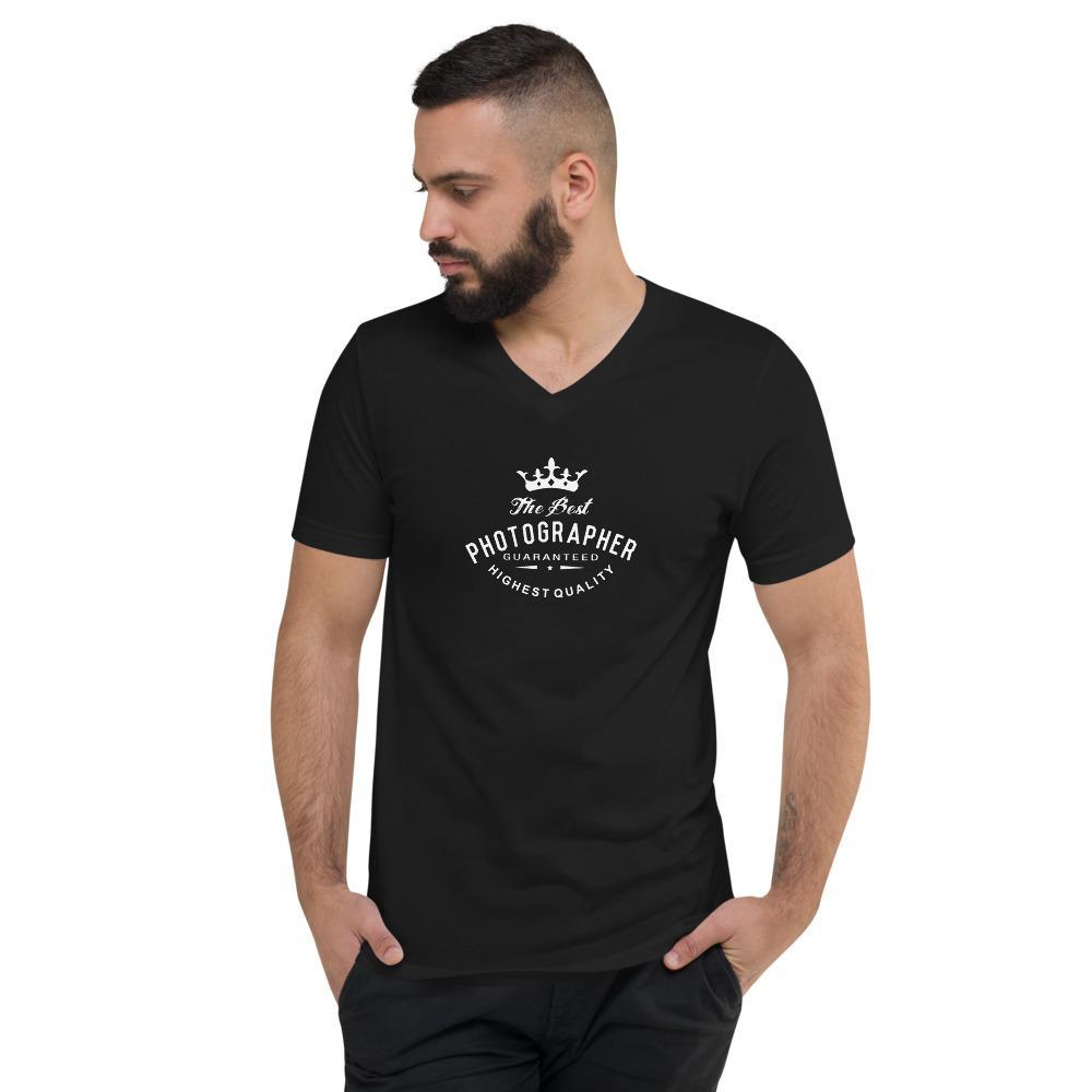 Fotograaf T-shirt cadeau: The Best Photographer - T-shirt met korte mouwen en V-hals, heren