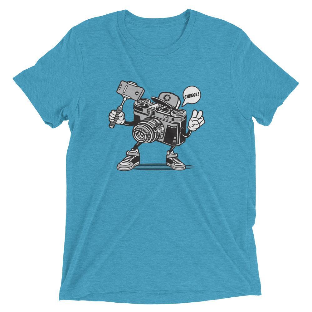 Fotograaf T-shirt cadeau: Vrolijke camera - Tri-Blend T-Shirt, unisex
