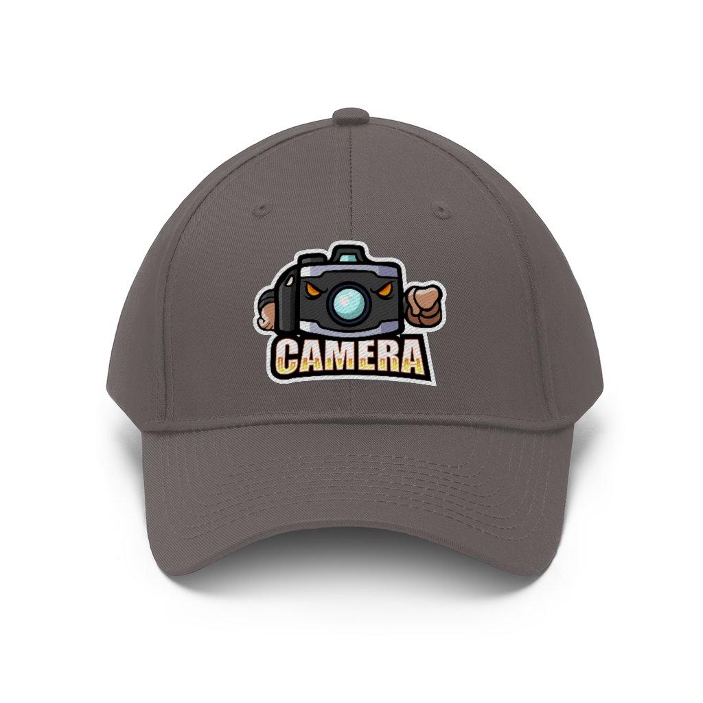 Fotograaf cap cadeau: Camera mascotte - Keperstof cap