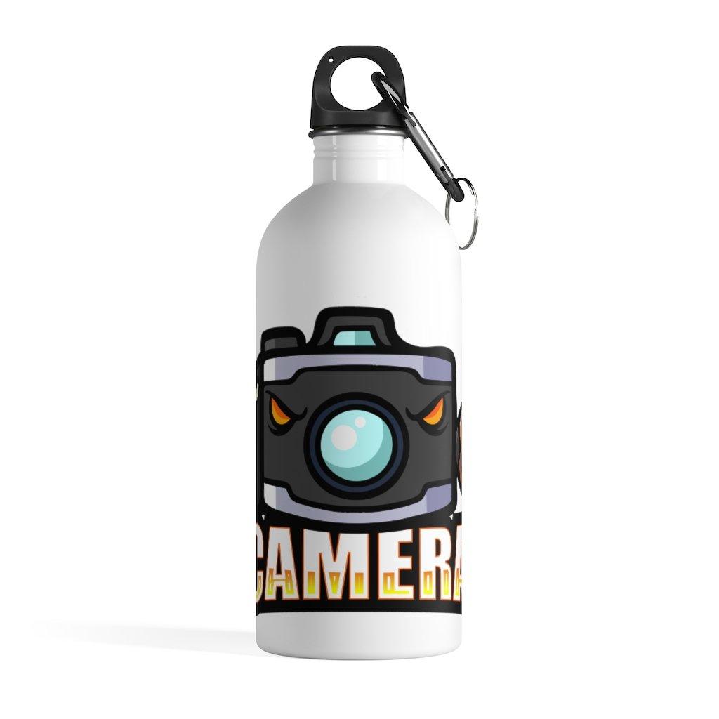 Fotograaf waterfles cadeau: Camera mascotte - Roestvrijstalen waterfles, zero-waste
