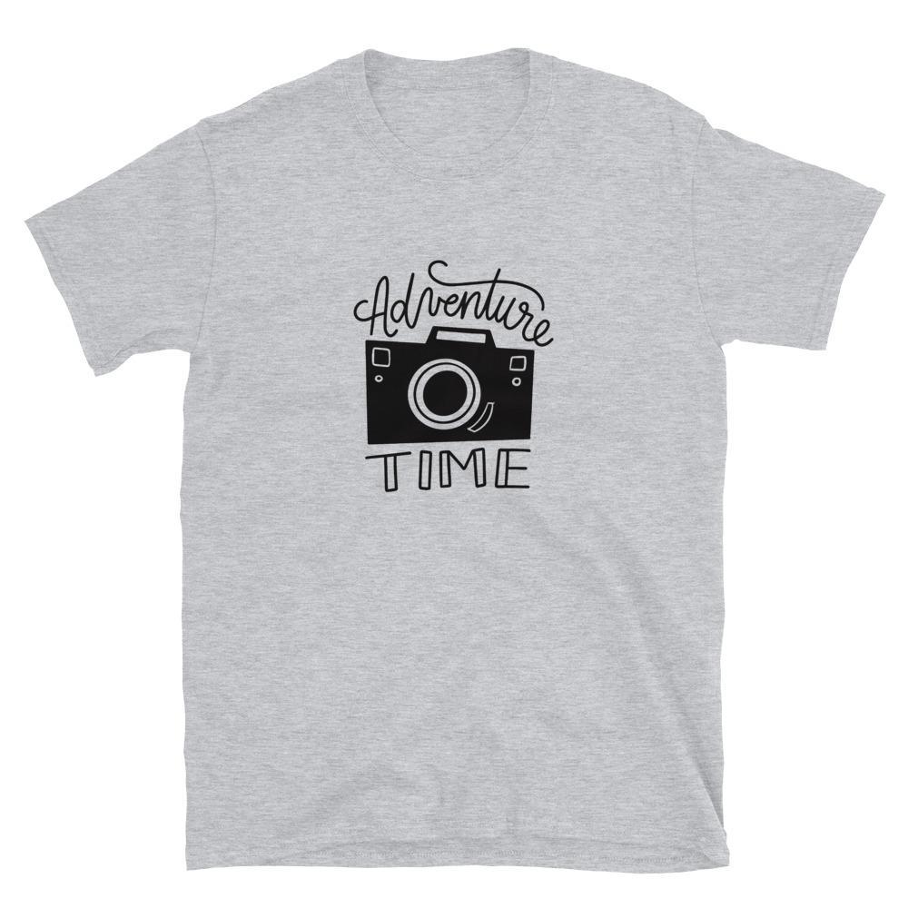 Avontuur T-shirt voor de fotograaf: Adventure Time - Grijs T-shirt met korte mouwen, unisex