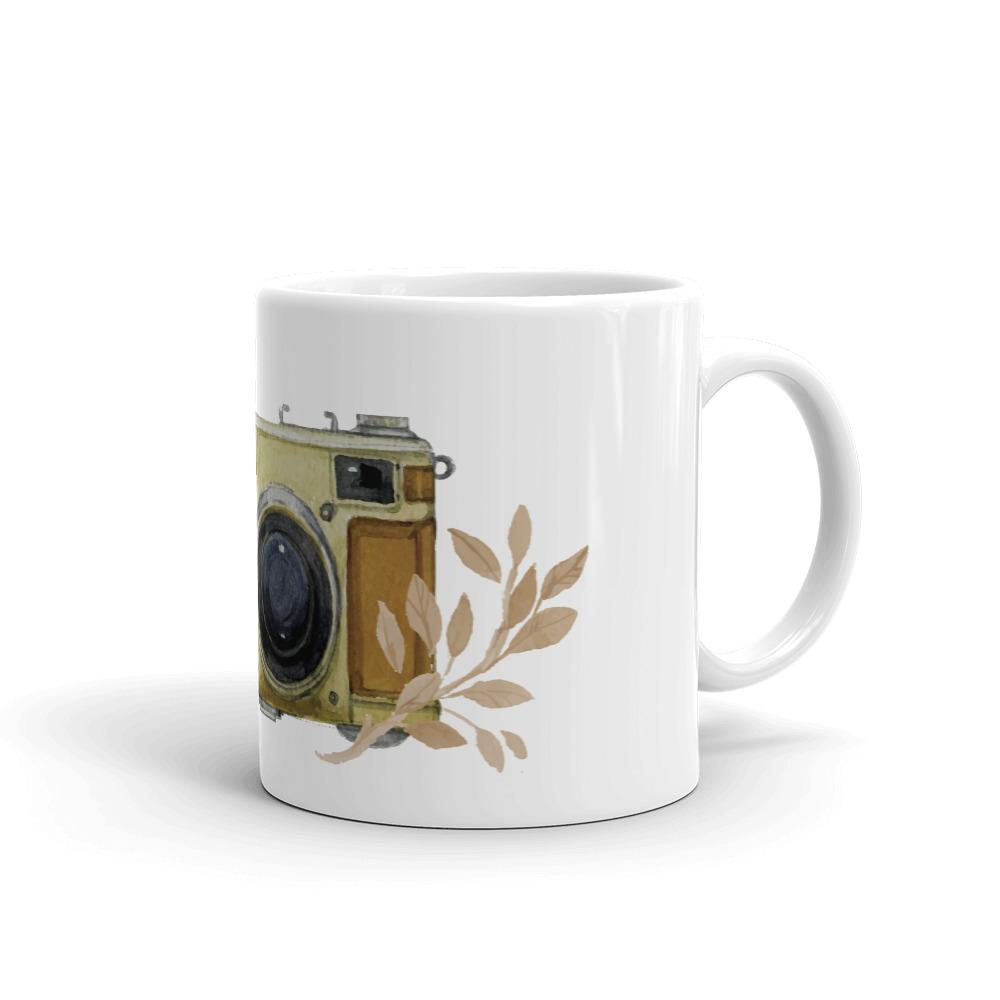 Fotografie mok cadeau: Handgeschilderde vintage camera - Mok