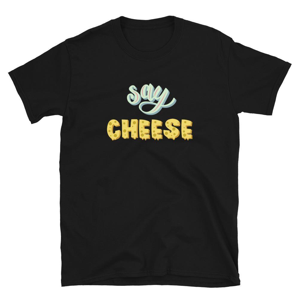 Fotograaf T-shirt cadeau: Say Cheese - T-shirt met korte mouwen, unisex
