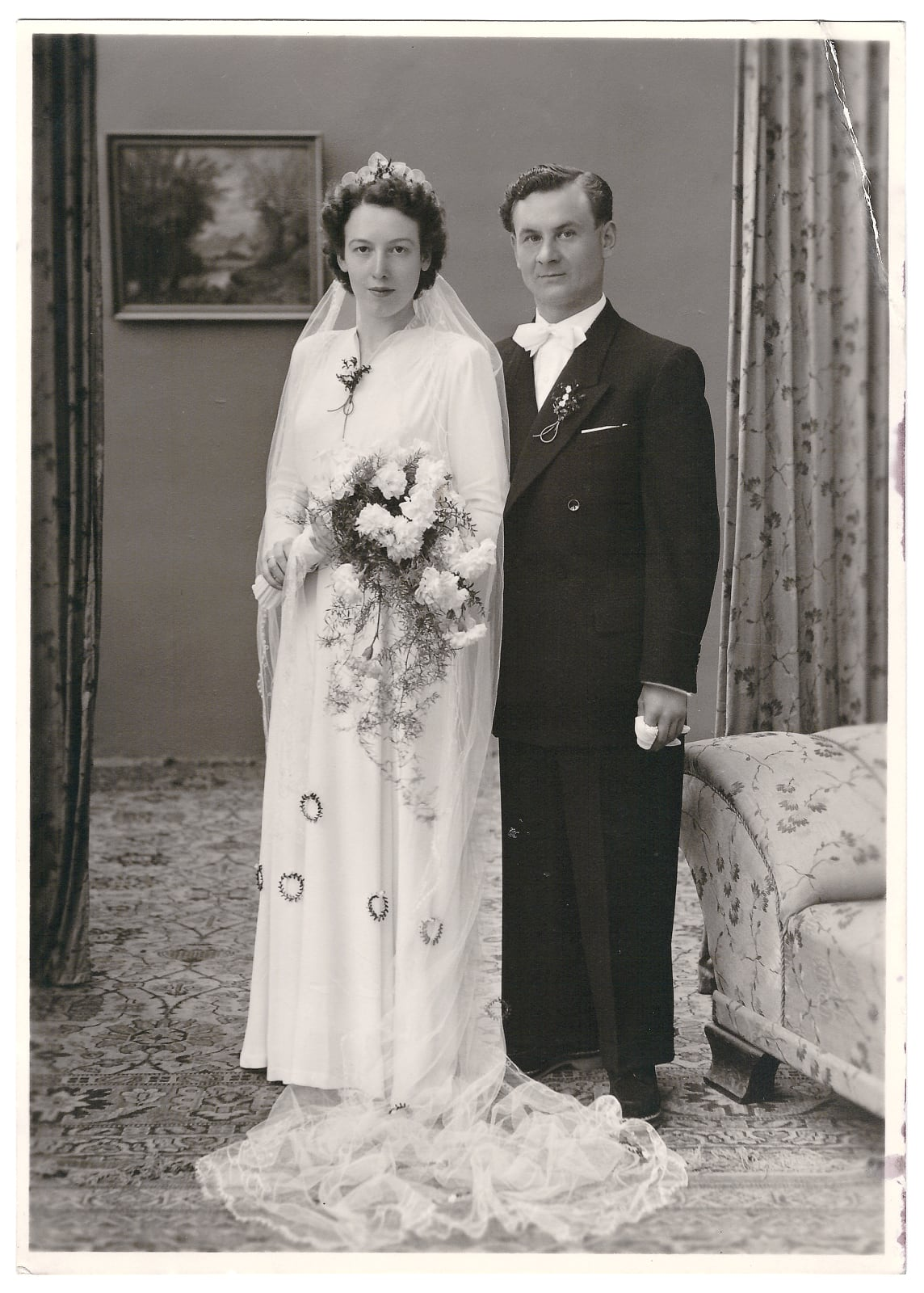 foto van bruidspaar uit 1900