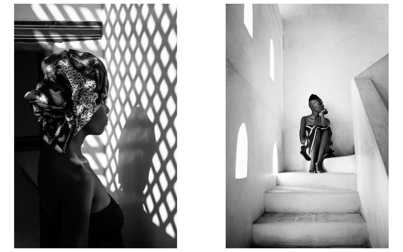 Portretfoto's van Annelies Damen van Keniaanse vrouwen voor charity