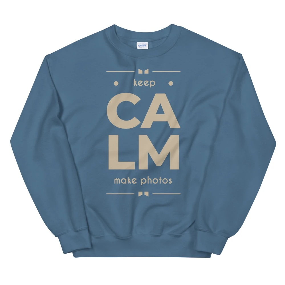 Sweatshirt fotograaf: Keep Calm Make Photos - Sweatshirt, heren