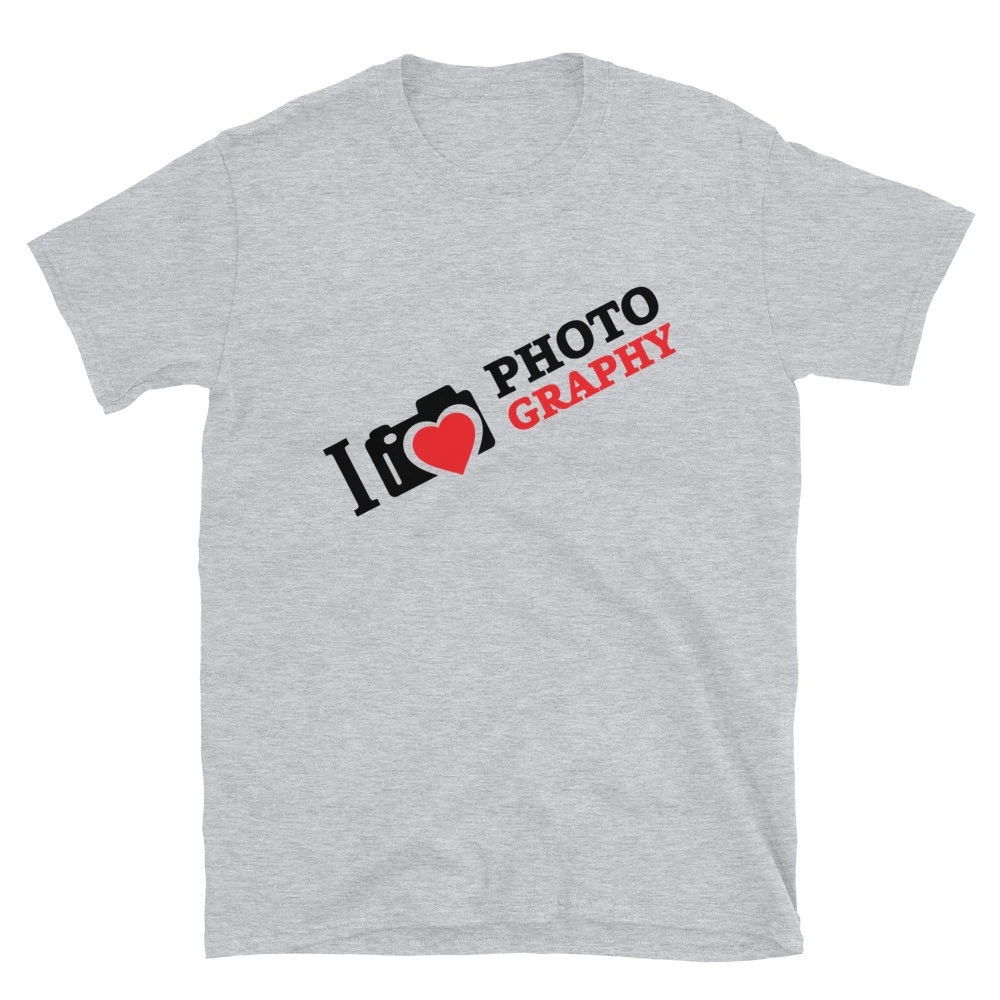 I Love Photography - T-shirt met korte mouwen, heren