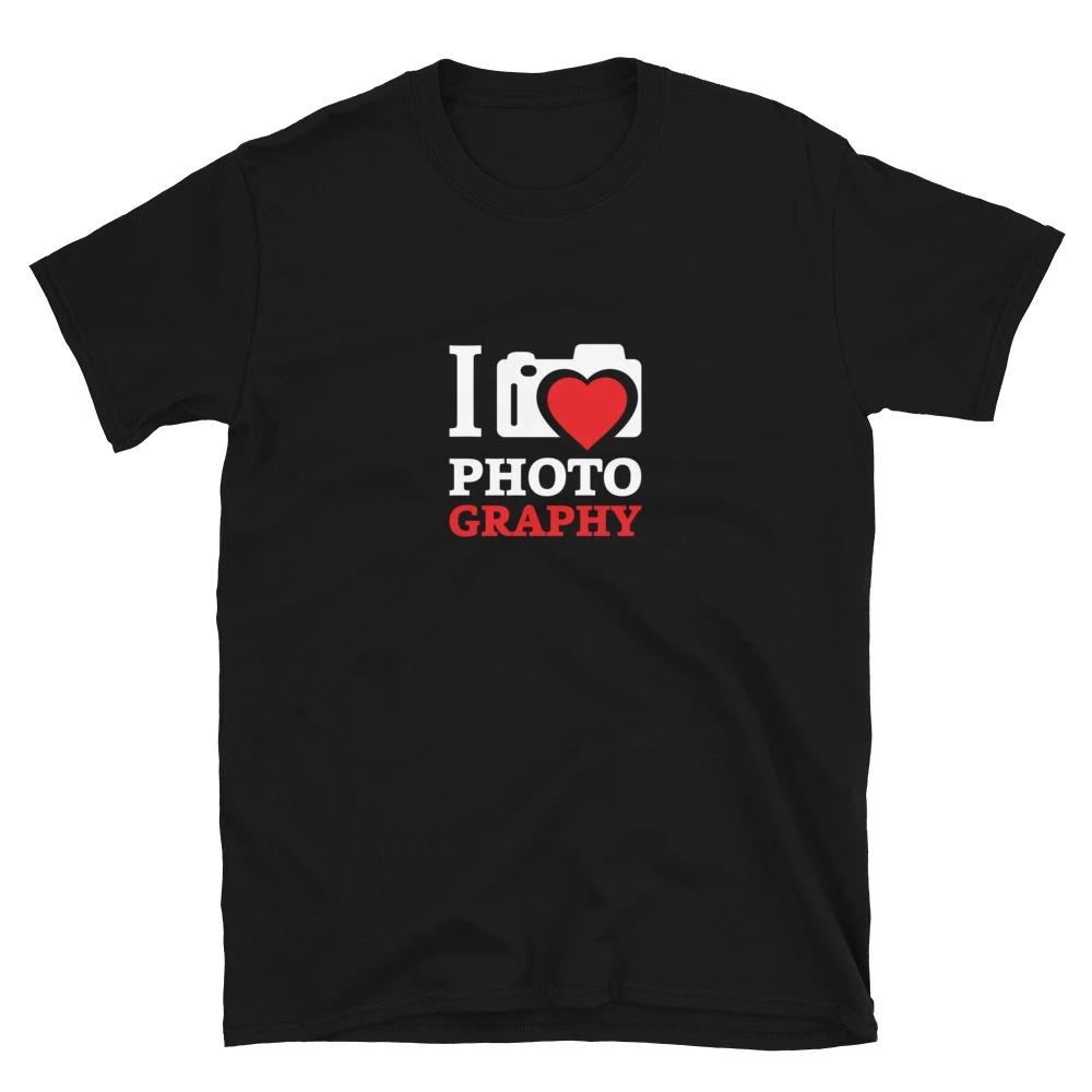 T-shirt voor fotograaf: I Love Photography - T-shirt met korte mouwen, dames