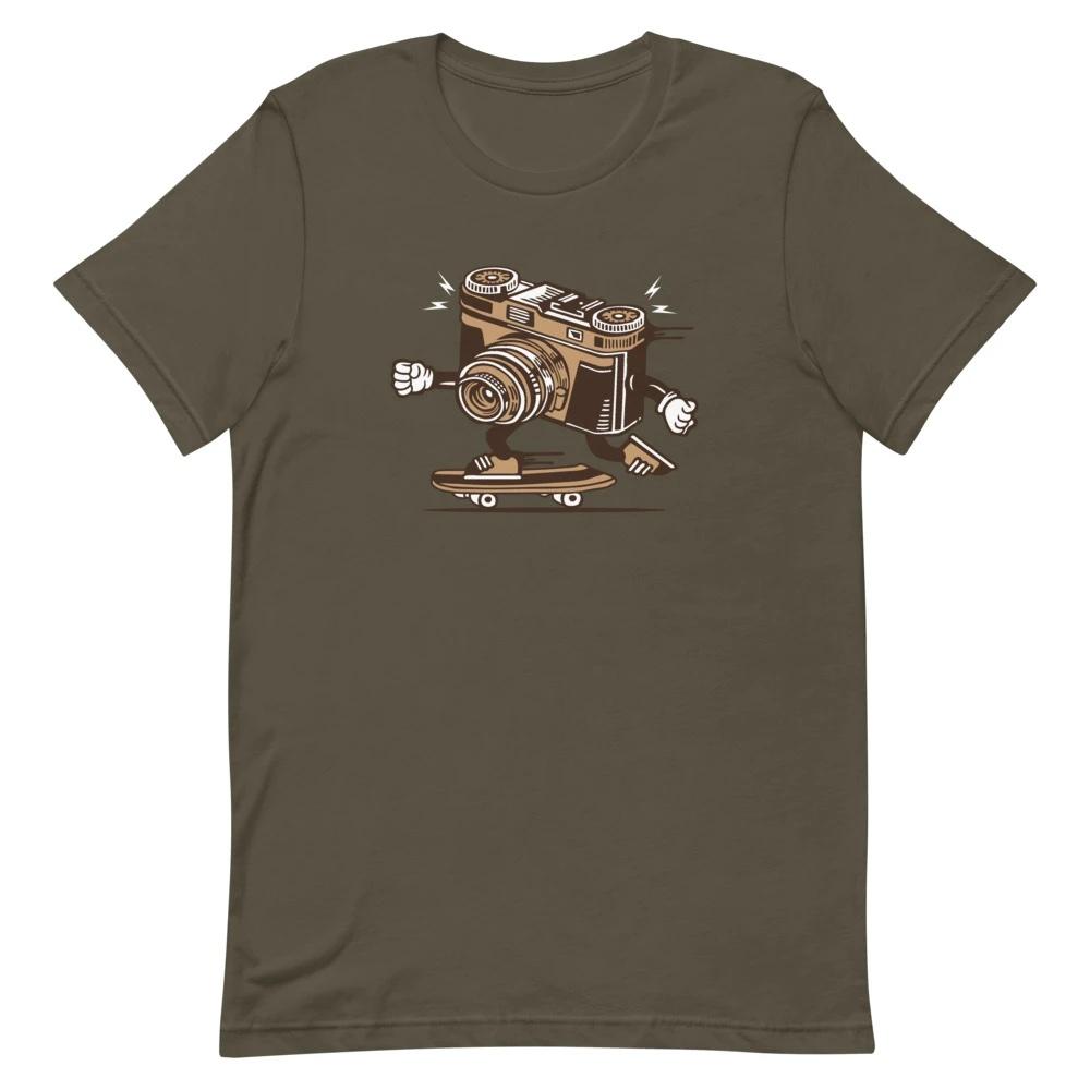 T-shirt fotograaf: Skater Camera - T-shirt met korte mouwen, heren