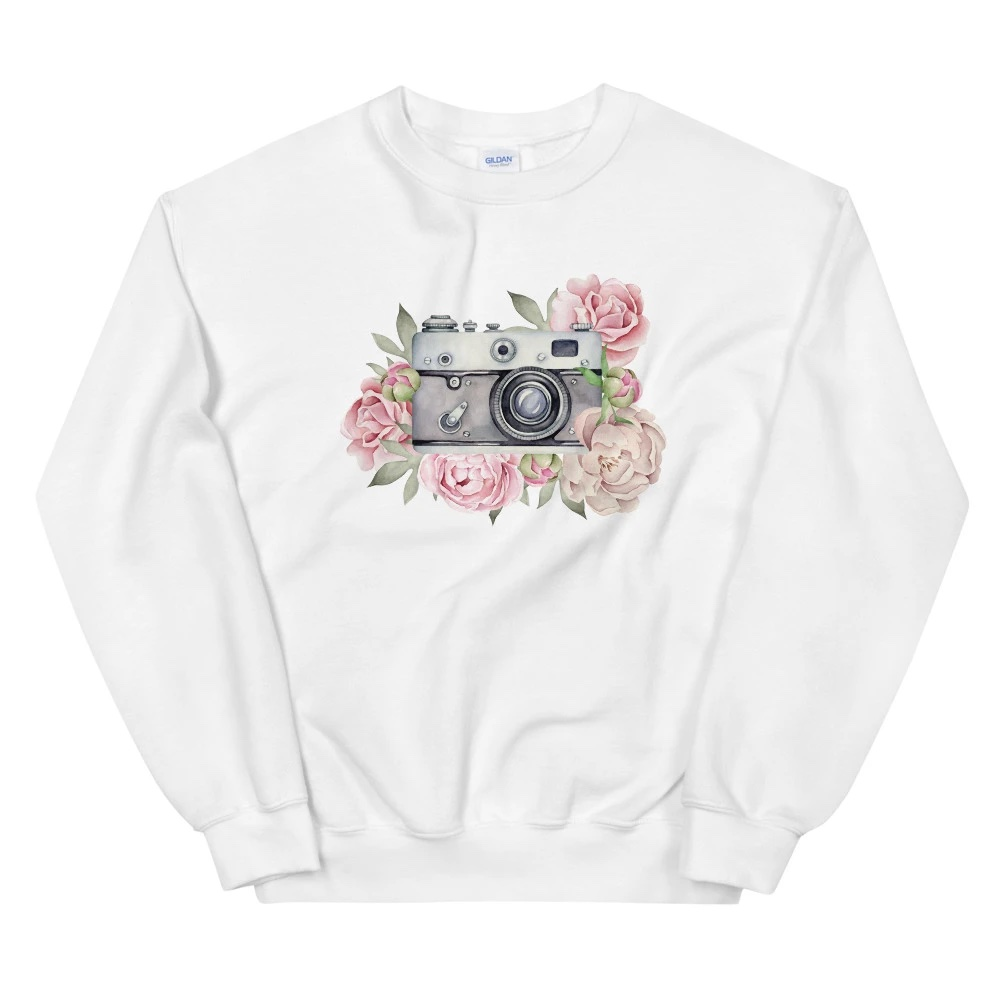 Sweatshirt fotograaf: Aquarel camera - Sweatshirt dames