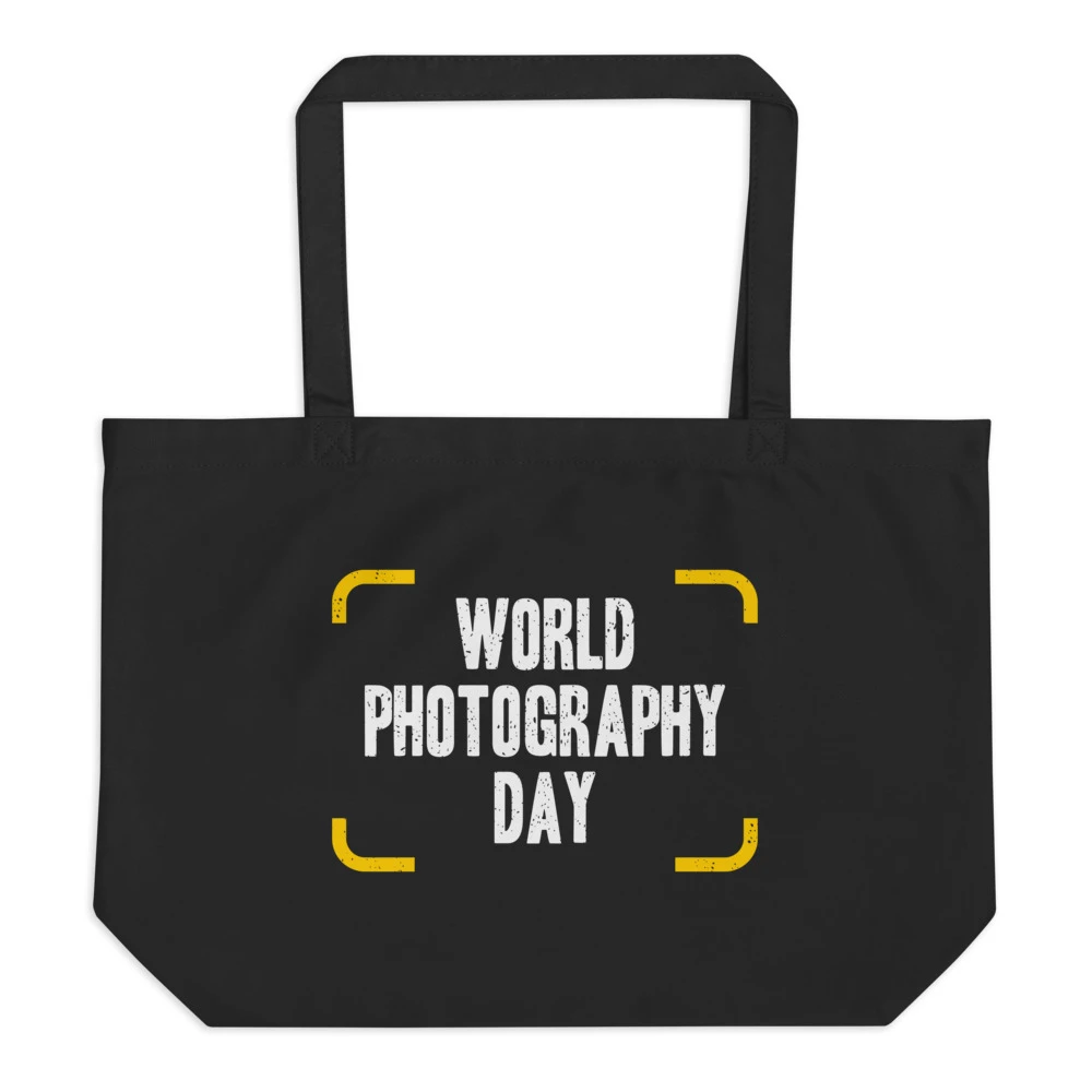Fotografie tas: World Photography Day - Zwarte eco draagtas
