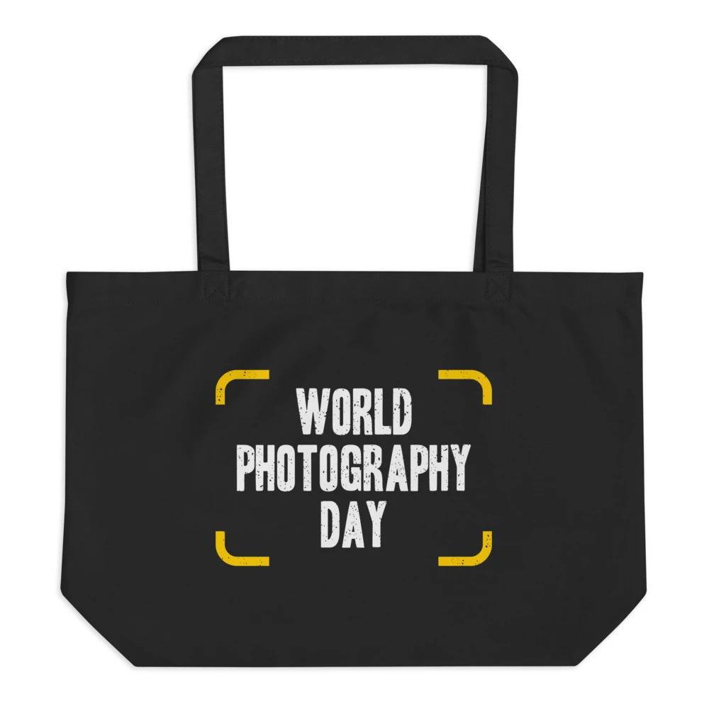 Fotografie tas: World Photography Day - Zwarte eco draagtas