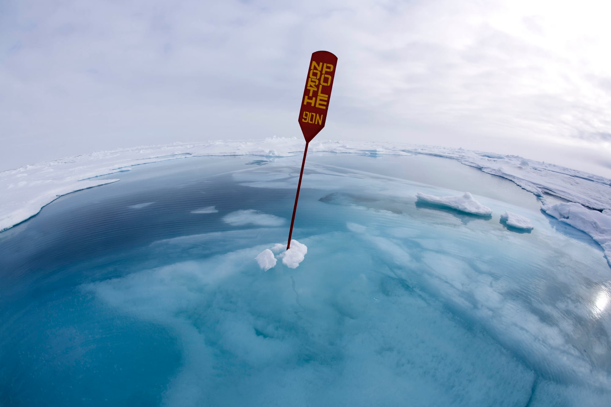 SPotY Winner (Climate Change) North Pole Under Water by Sue Flood FRPS
