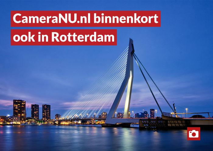 Erasmusbrug Rotterdam, CameraNu opent winkel in Rotterdam