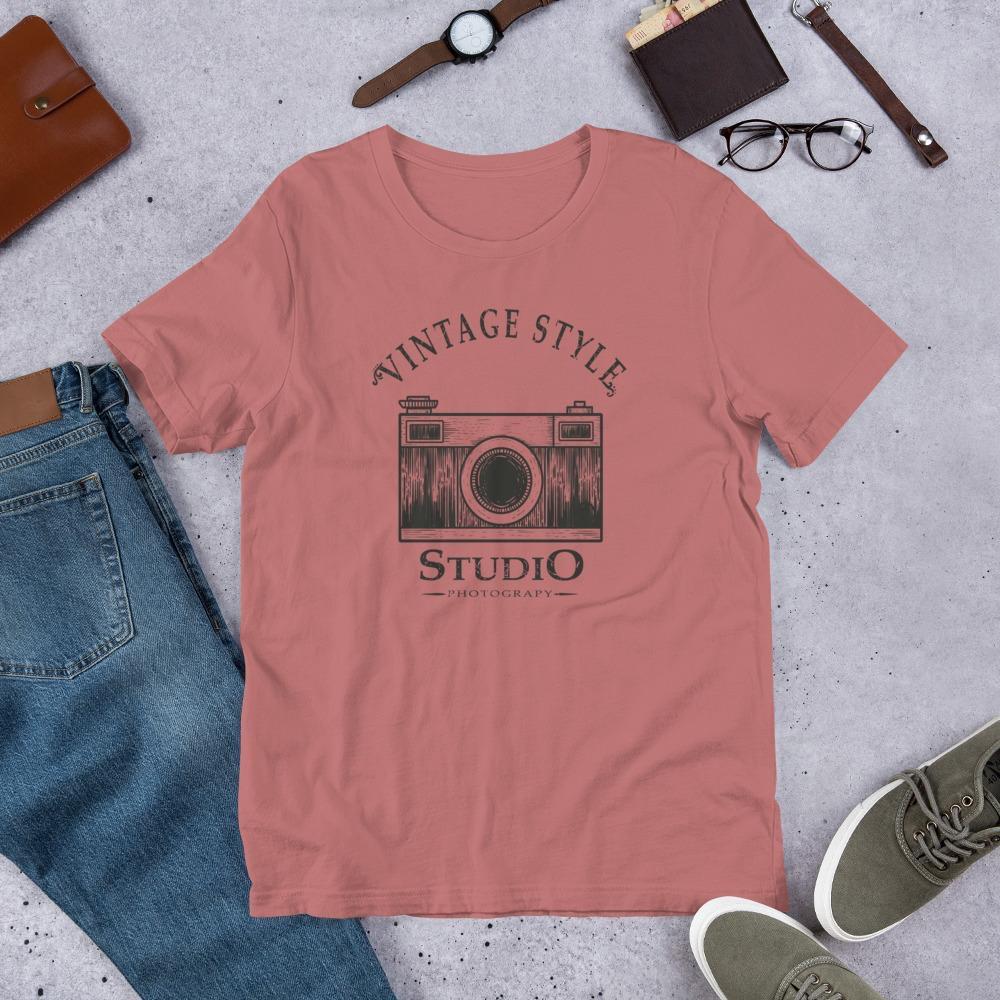 Vintage Style Studio Photography - Unisex T-Shirt voor fotograaf