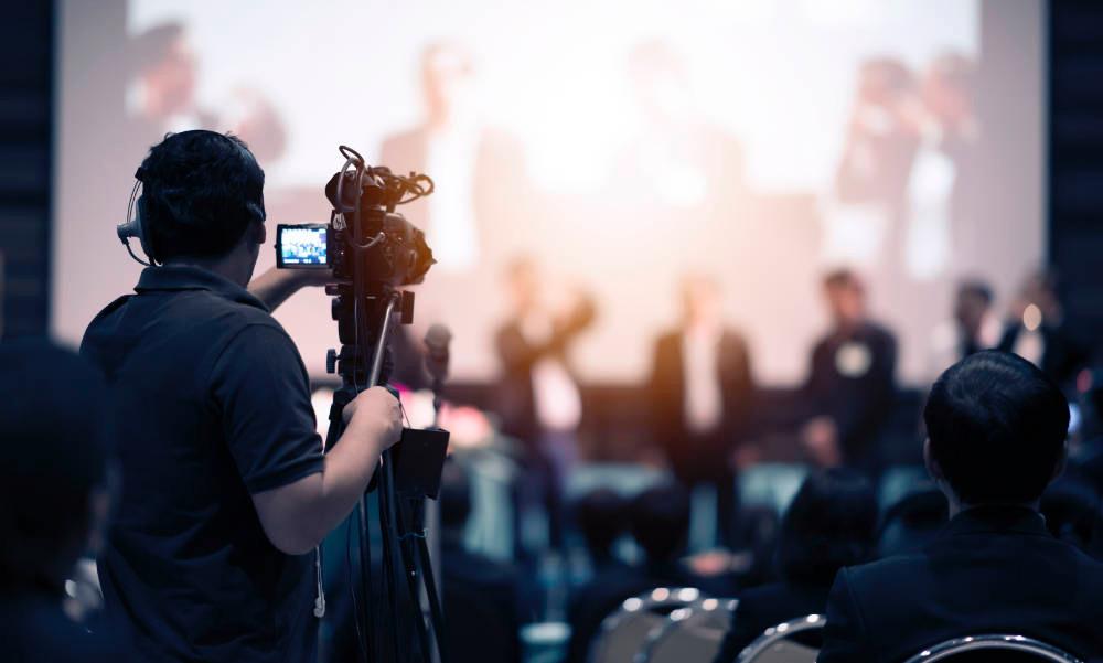 videograaf die evenement filmt