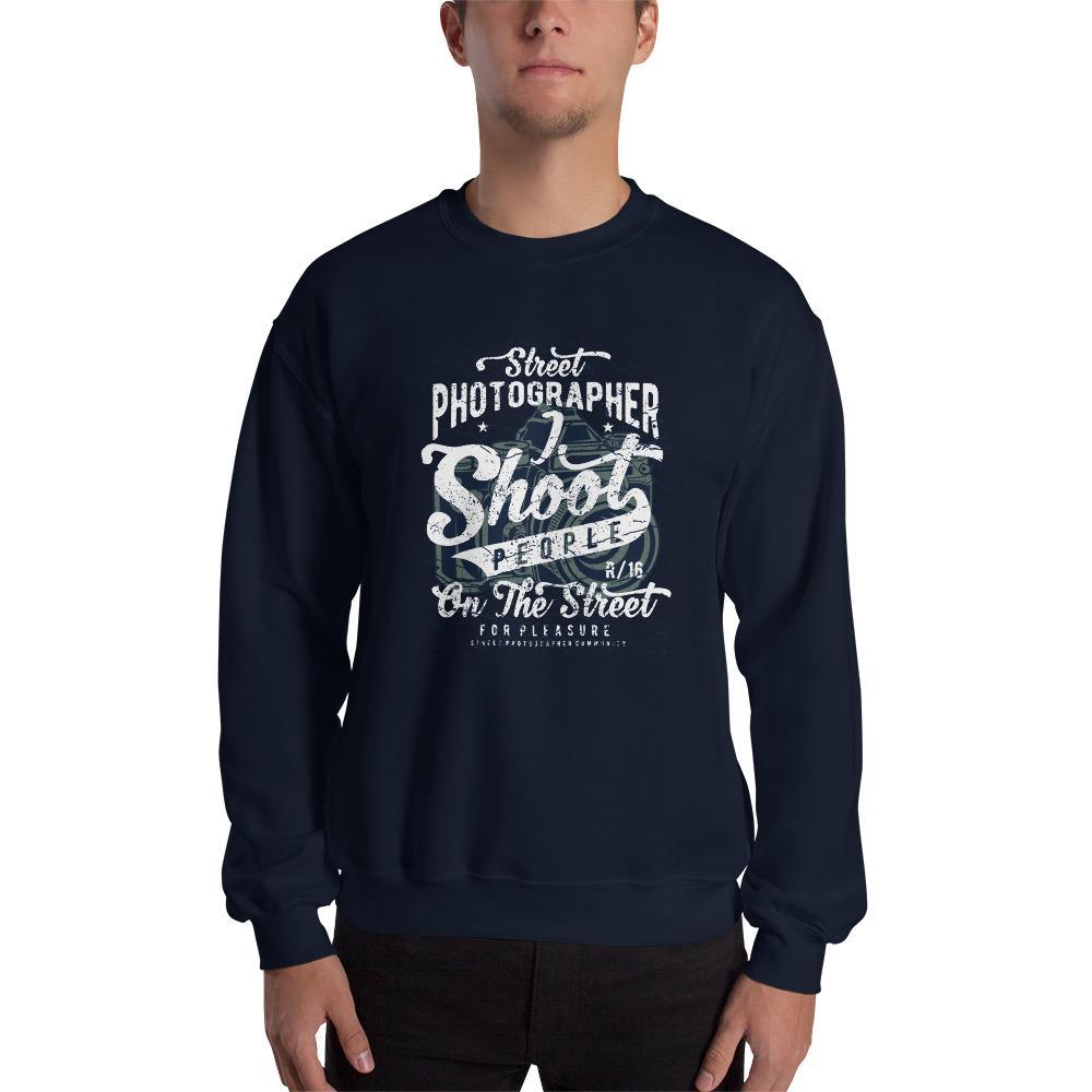 Sweatshirt voor de straatfotograaf met vintage style bedrukking