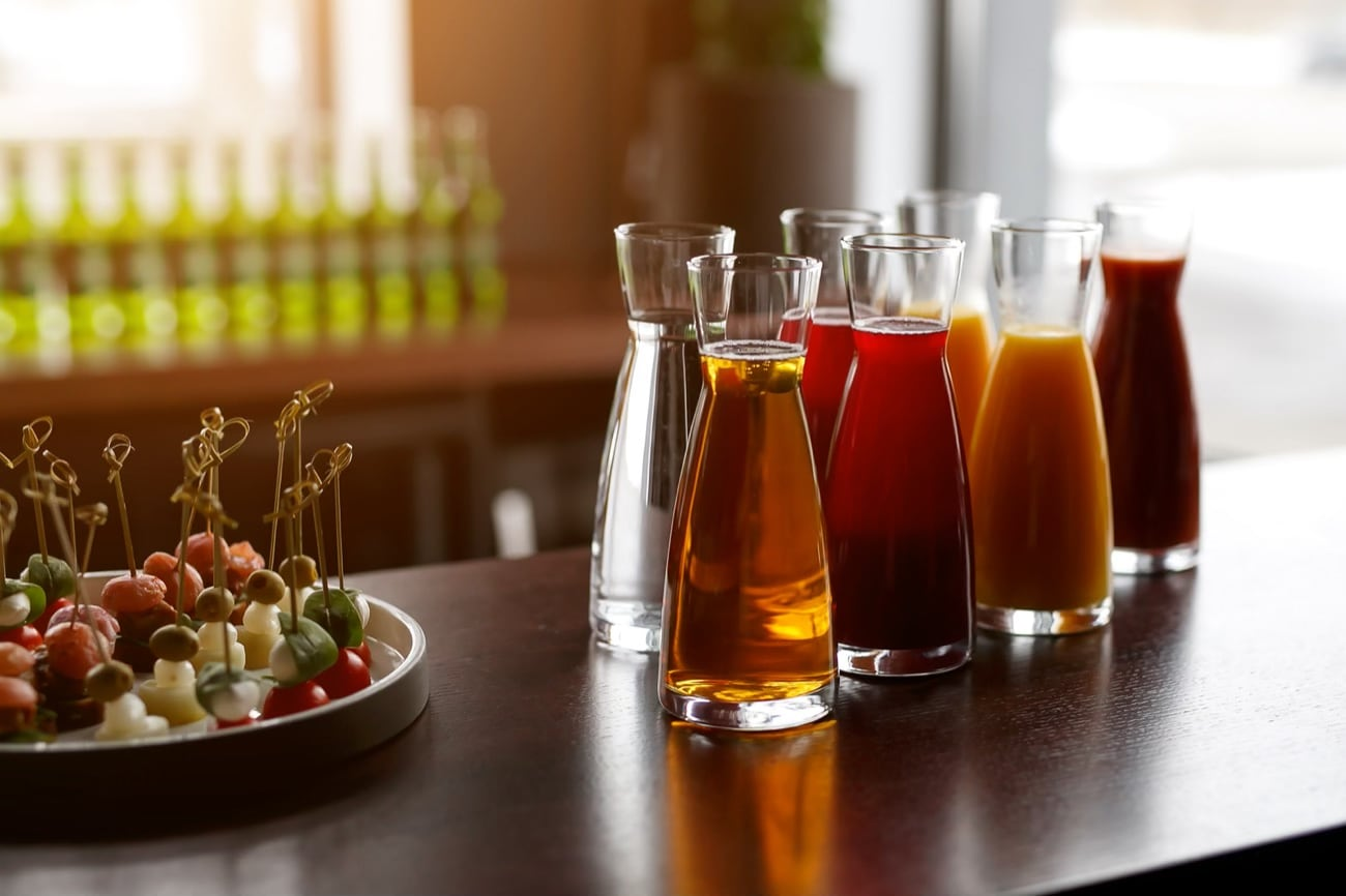 jugs-with-different-juices-event-catering