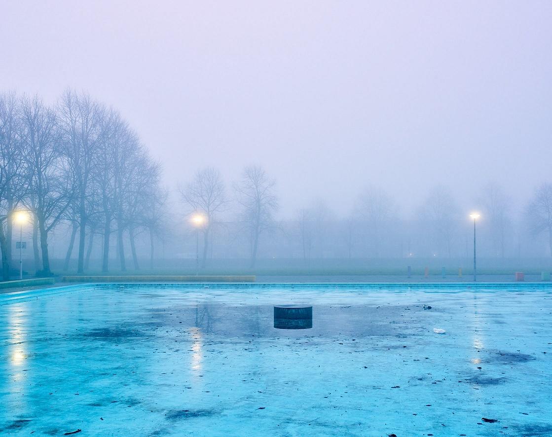 foto: © Raymond Wouda - Tuindorp Oostzaan zwembad in de mist