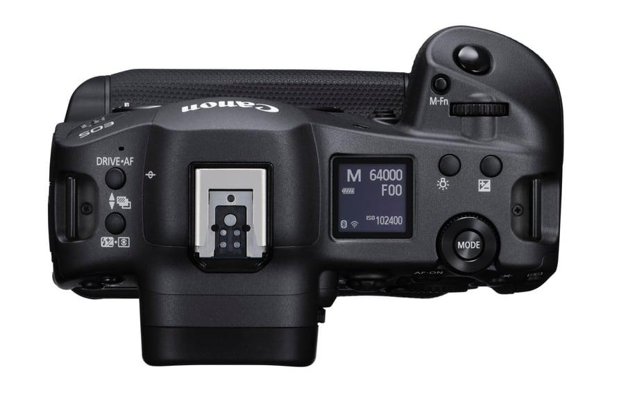 Canon EOS R3 bovenkant
