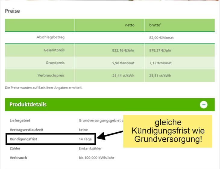 Der günstige Stromtarif in Dresden ist ebenso 14 Tage kündbar, wie die Grundversorgung der DREWAG