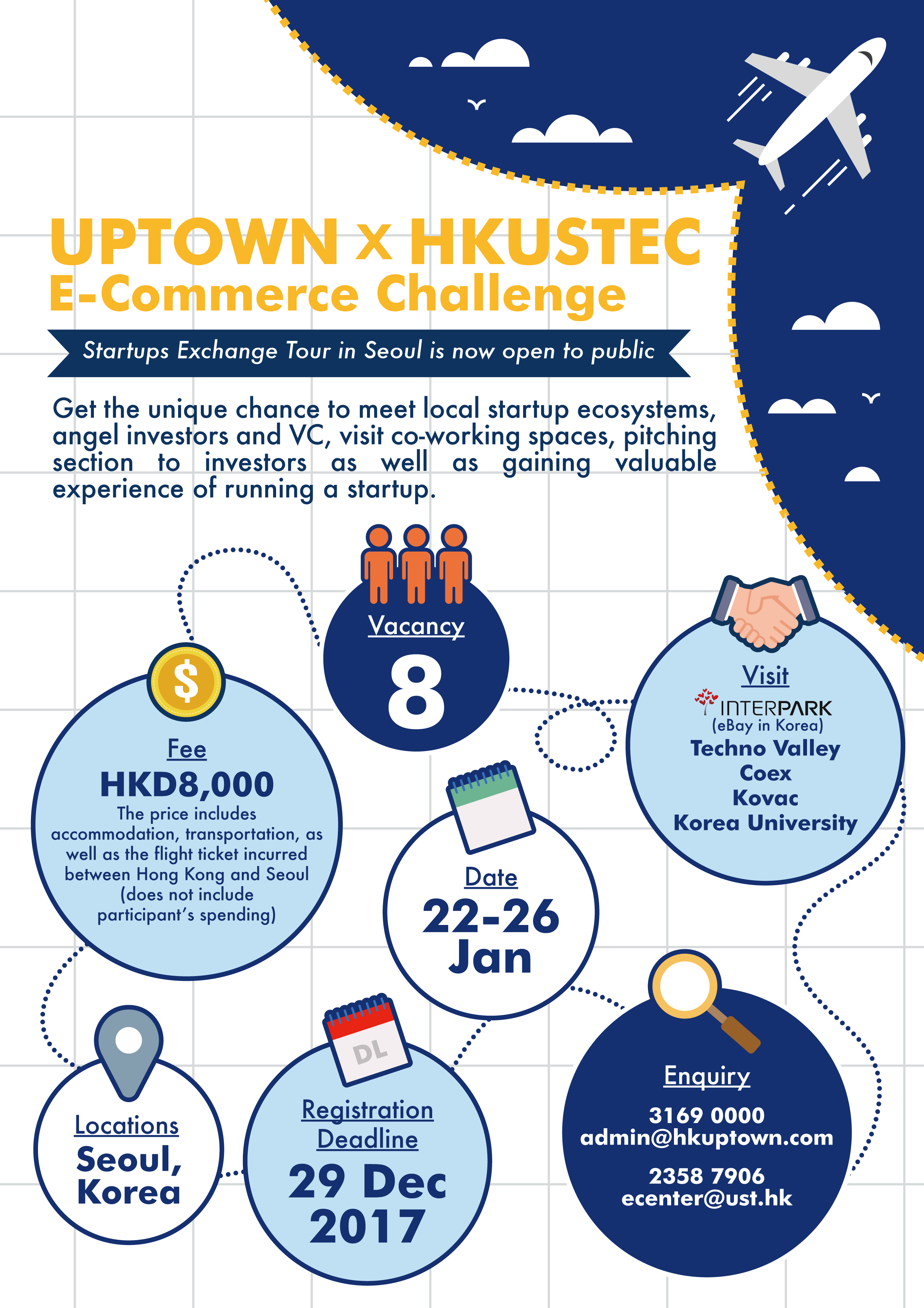 Uptown x HKUSTEC E-commerce Challenge Startups Exchange Tour in Seoul