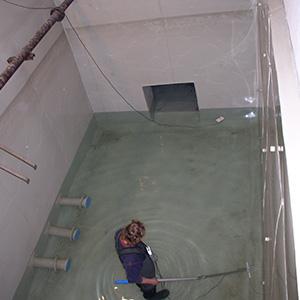 Vyplášťování betonových záchytných van pro pitnou vodu 3