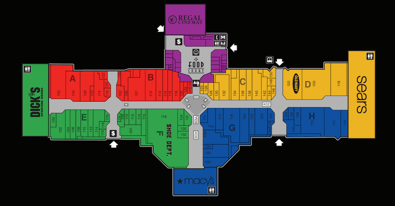 3714a25436e21 The Great Northern Mall Map