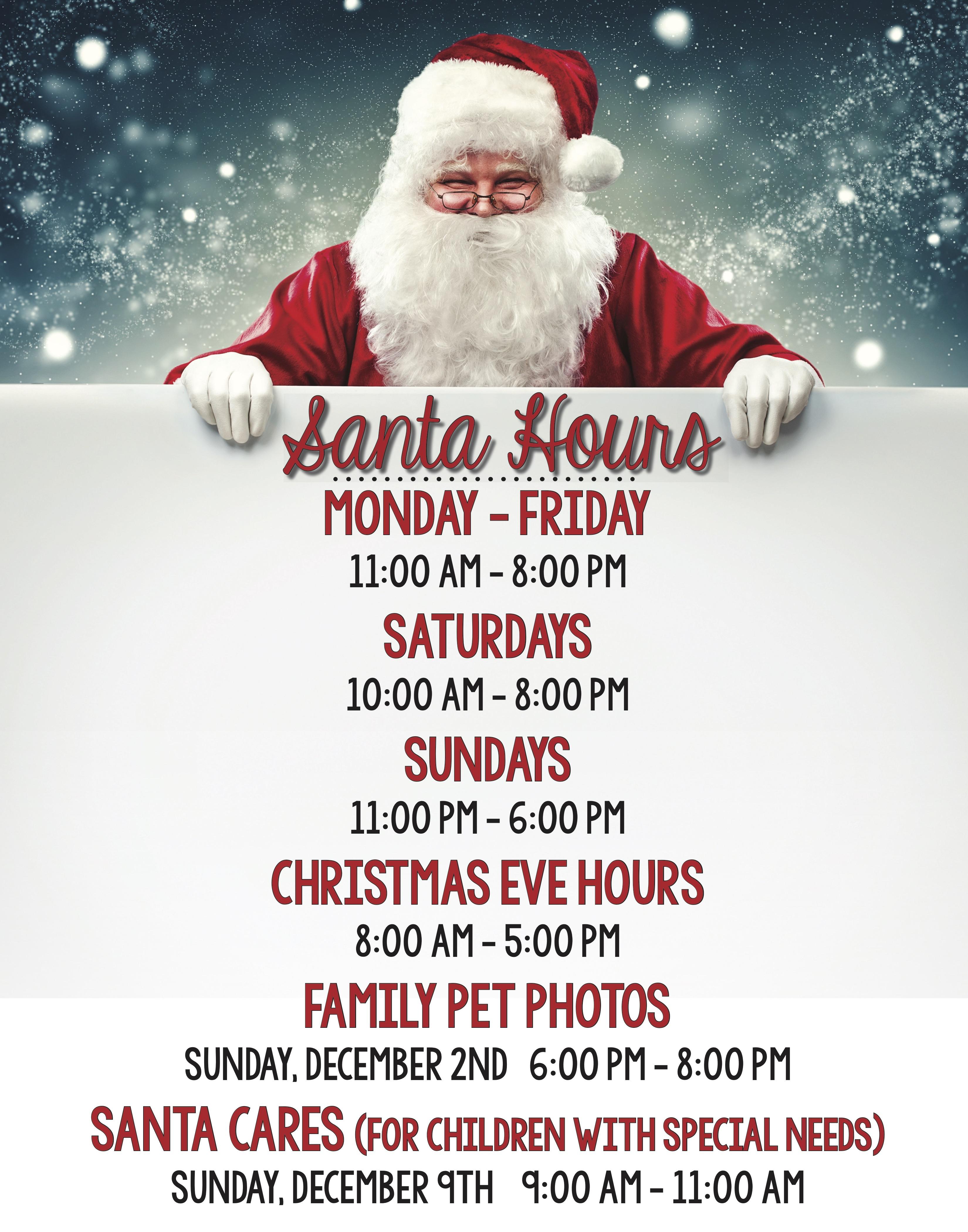 Santa Hours 2018