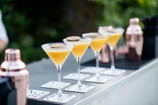 pornstar martinis in a row