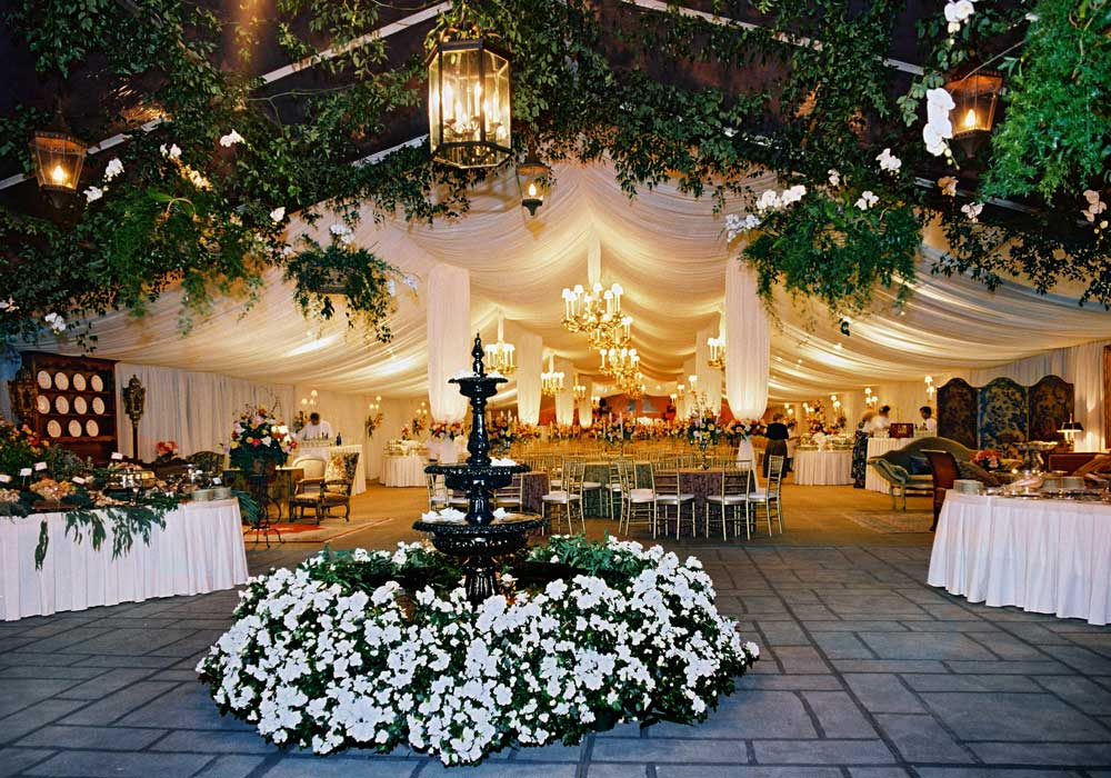 Tent with Swag and Gardens