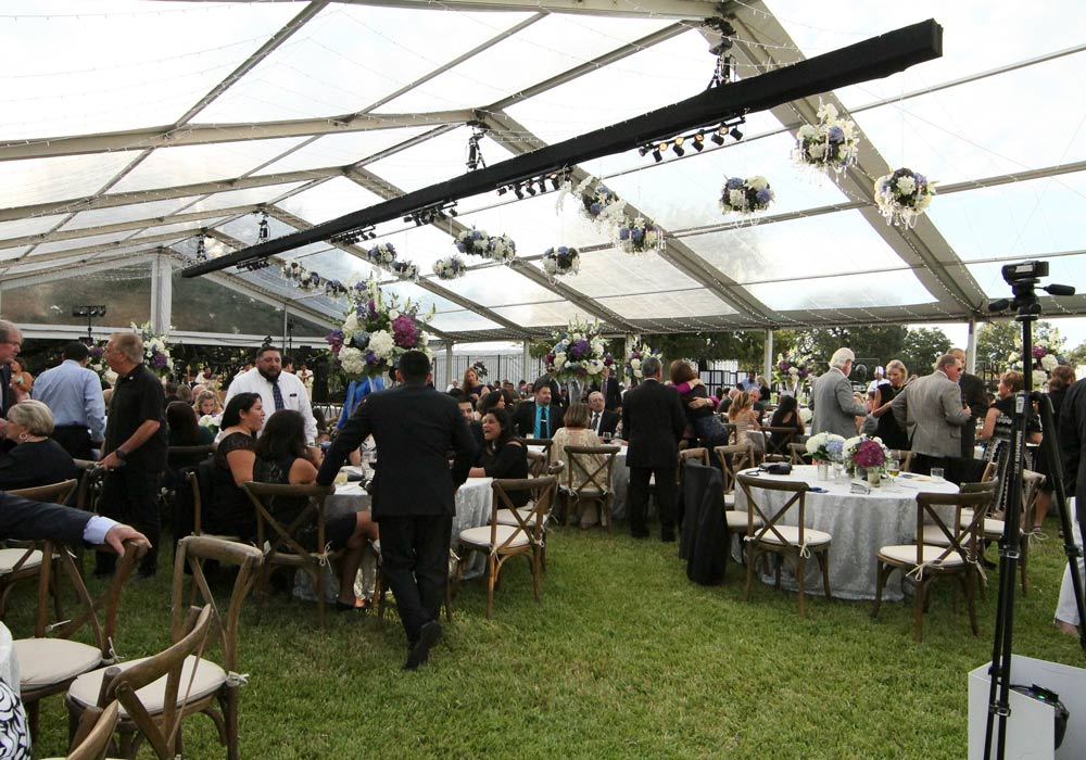 Daytime Wedding Tent with Transparent Cover
