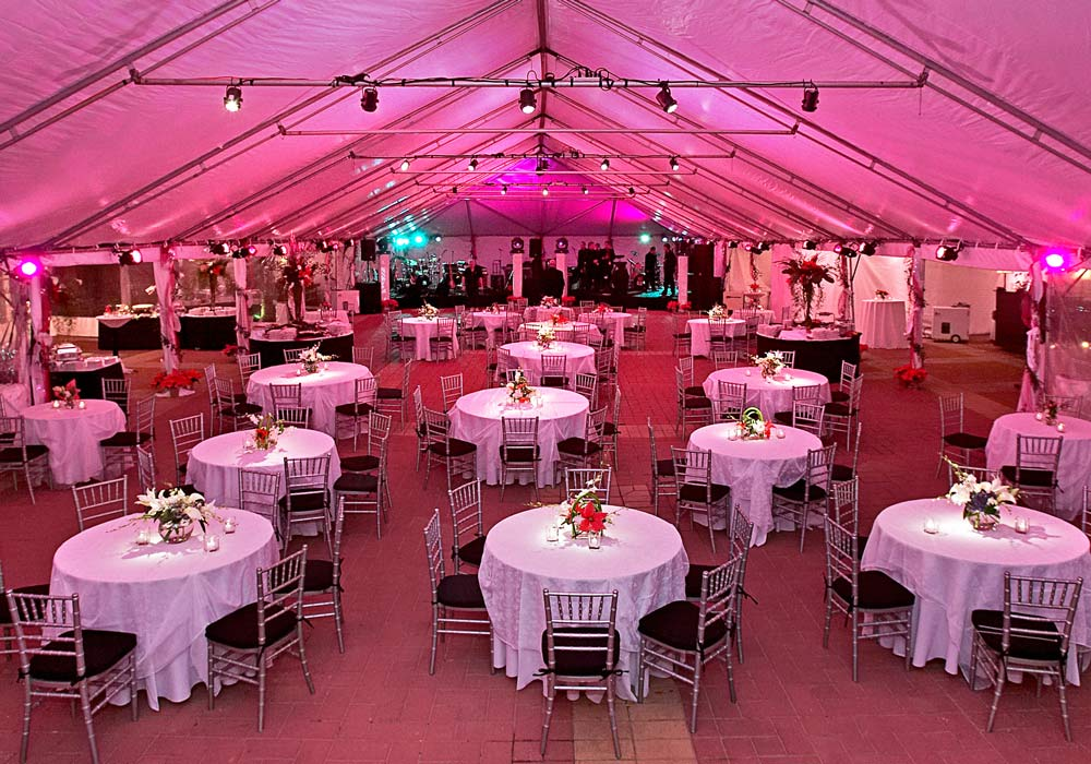Tent Round Tables and Chairs