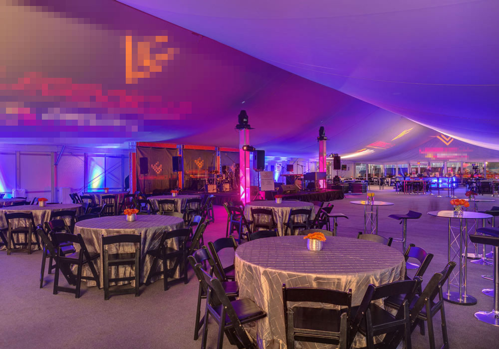 Structure Tent with custom Gobo