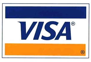 We accept VisaCard Payments.