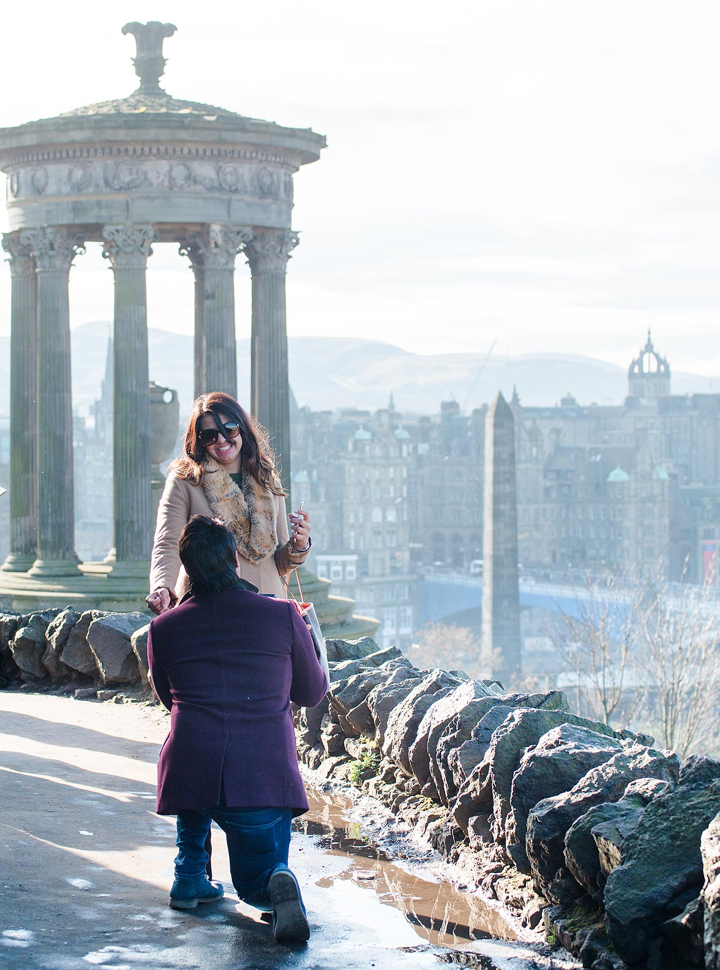 Proposal Photographs Edinburgh Calton Hill