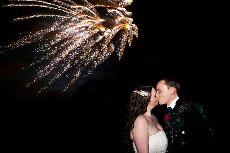 Scotland Wedding Fireworks