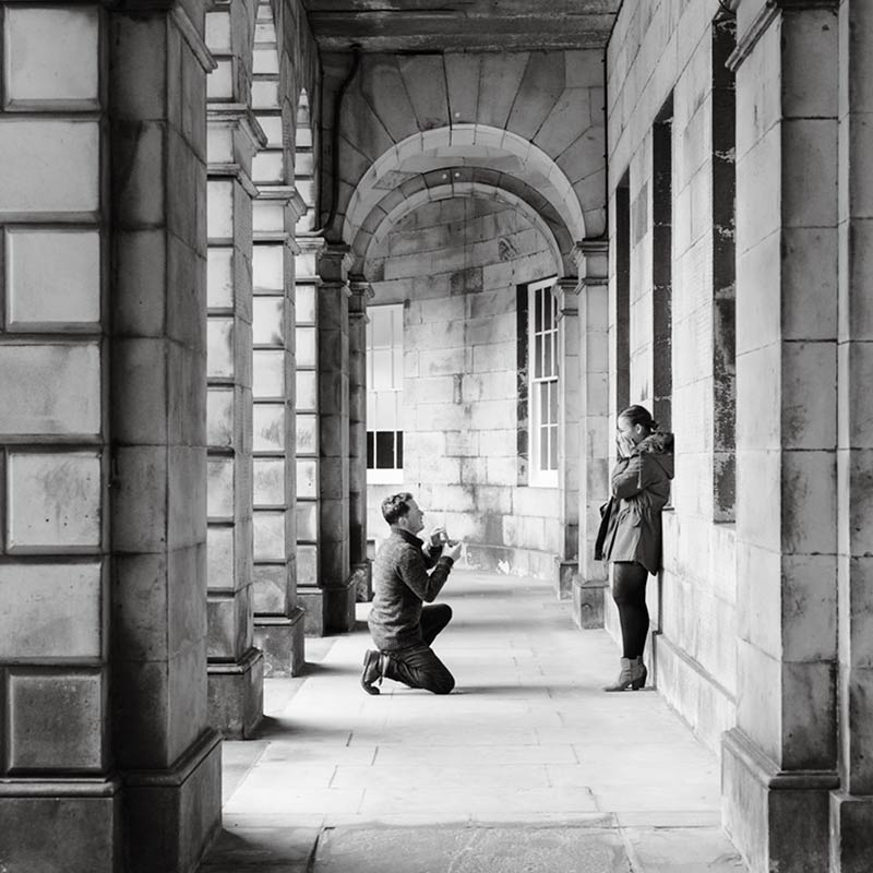 Edinburgh Proposal Photographer