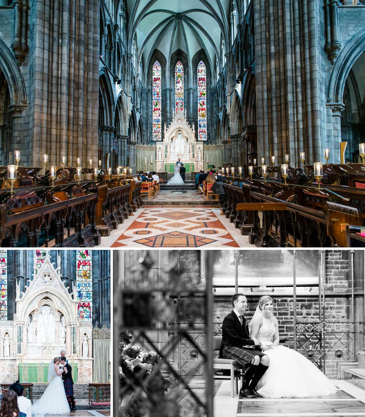 wedding photographs st Mary's cathedral edinburgh