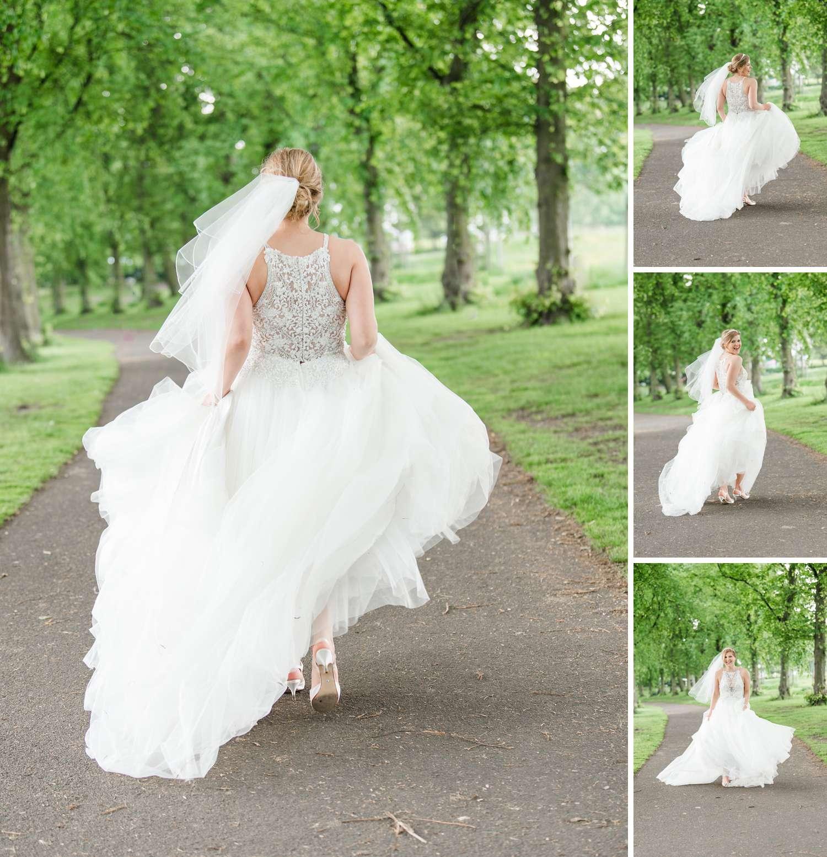 wedding photographs Inverleith park Edinburgh