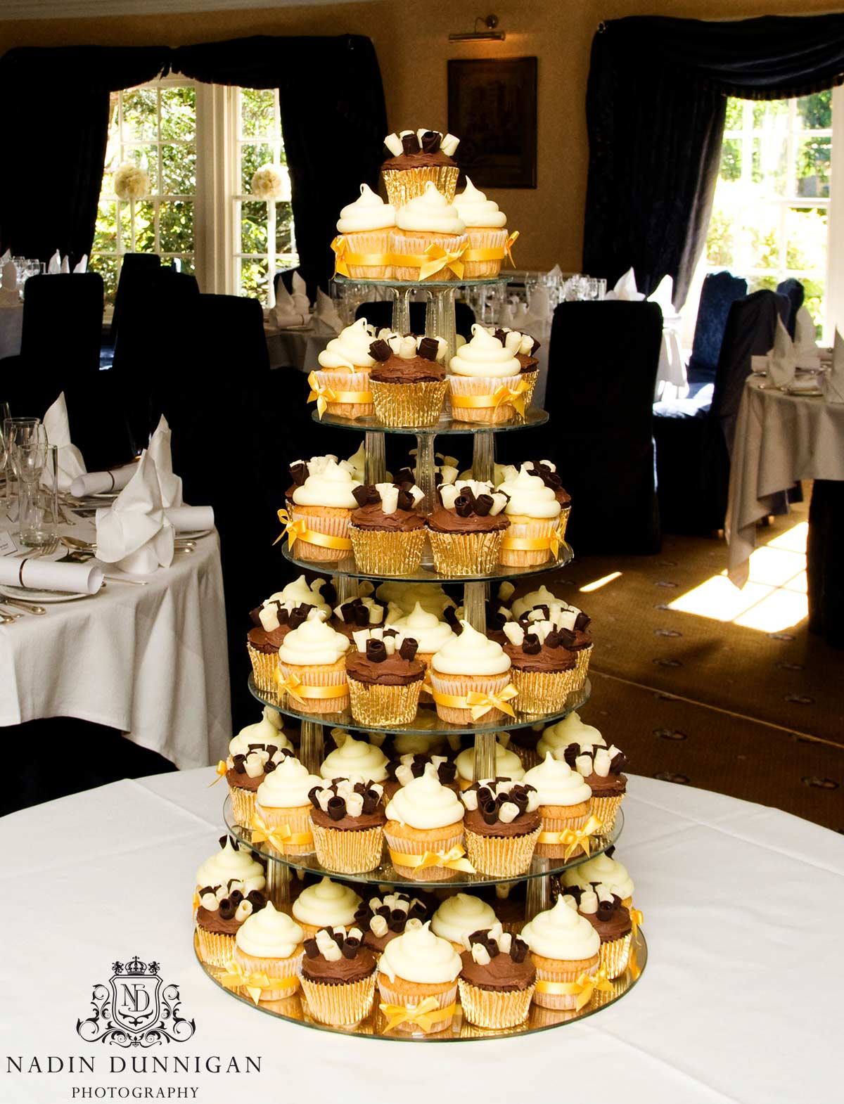 Cup cake tower, naked wedding cakes