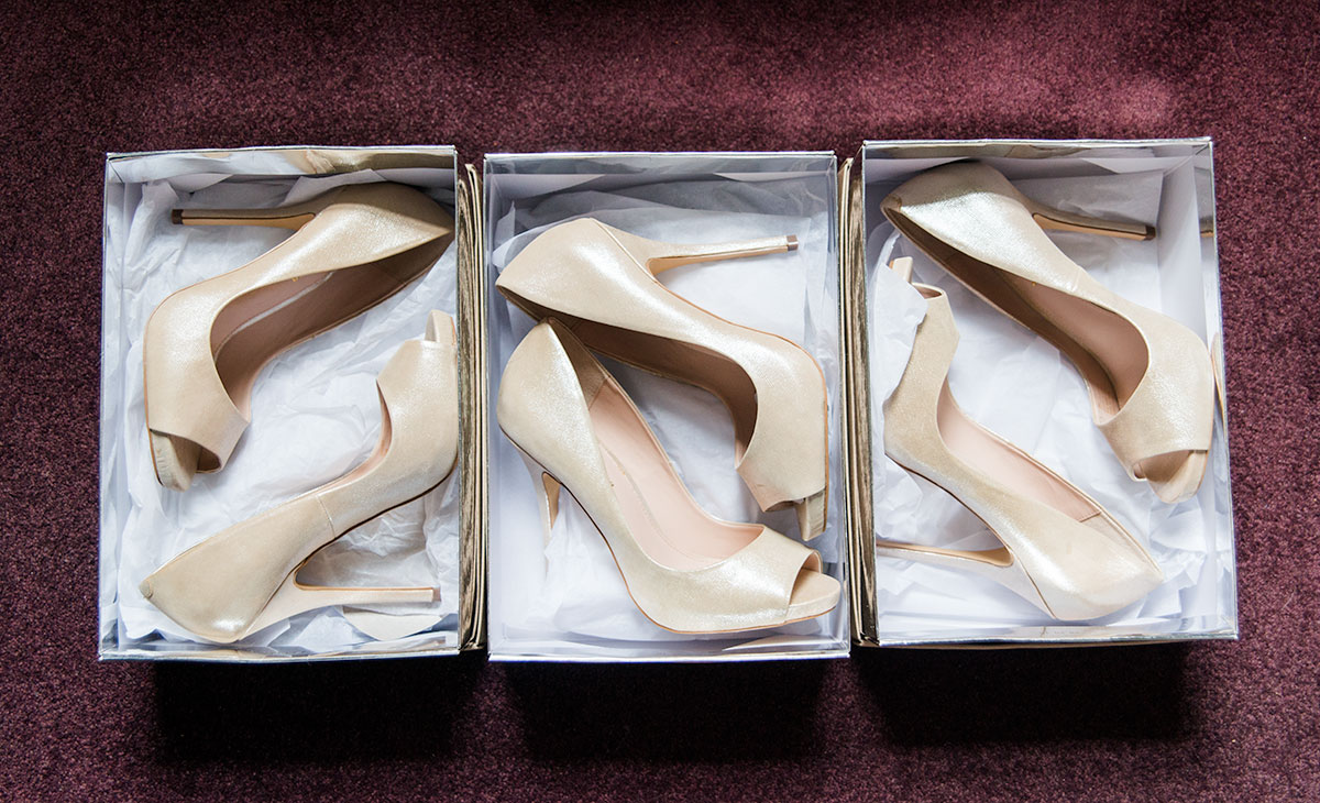 The bridesmaids shoes, how long does a wedding photographer stay