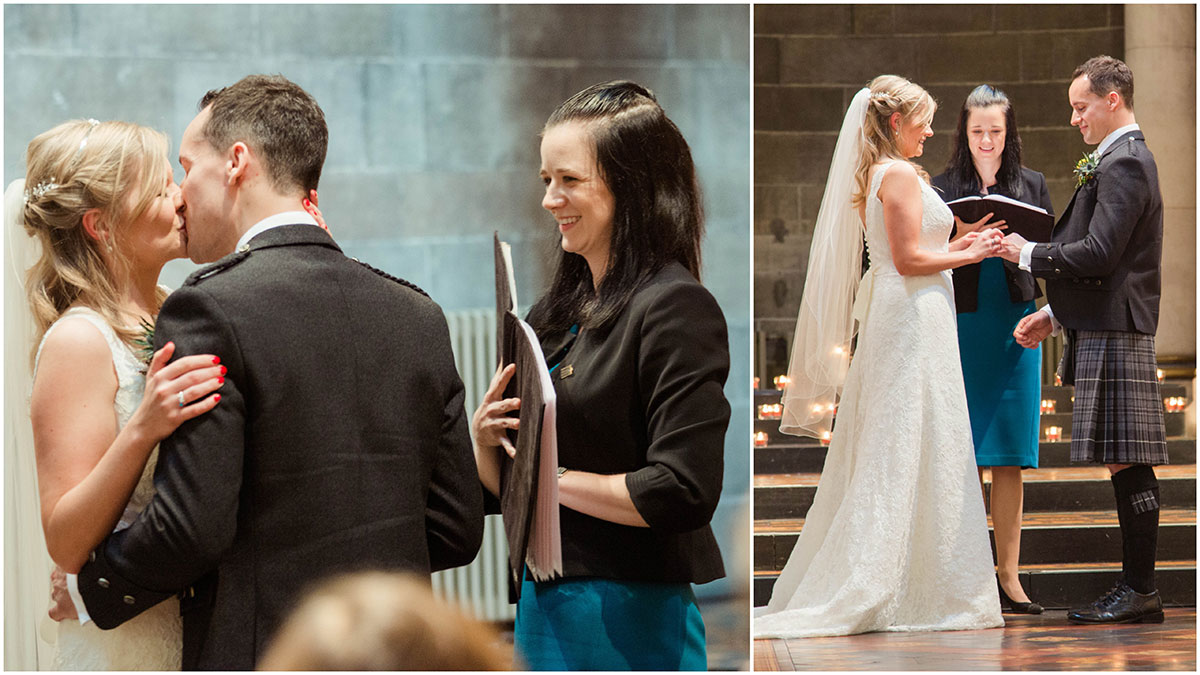 Conducting the ceremony, how long does a wedding photographer stay