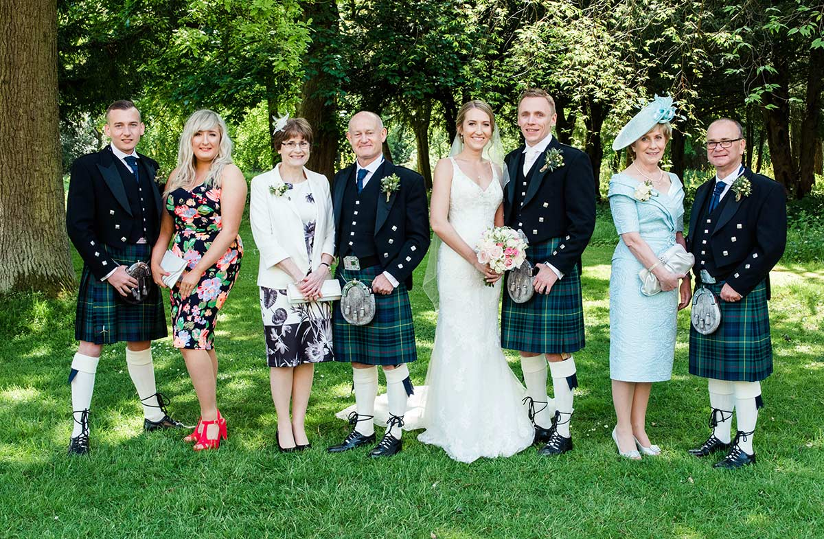 Formal family photographs, how long does a wedding photographer stay