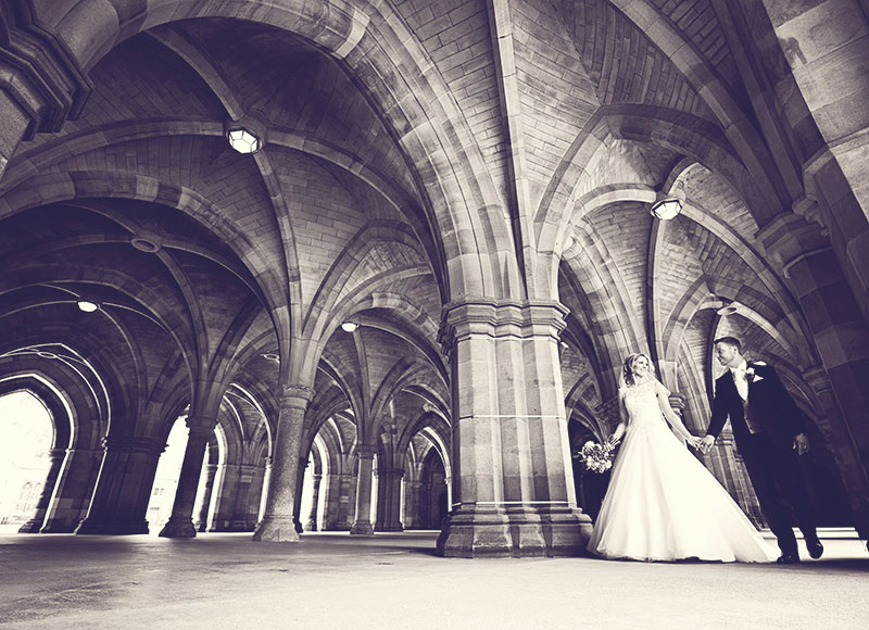 Dramatic images, different wedding photography styles