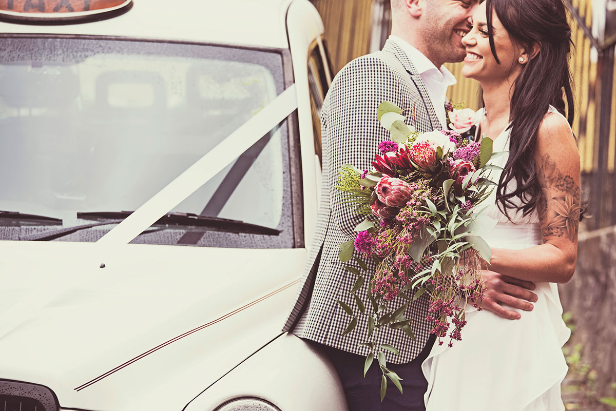 Desaturated photograph, different wedding photography styles