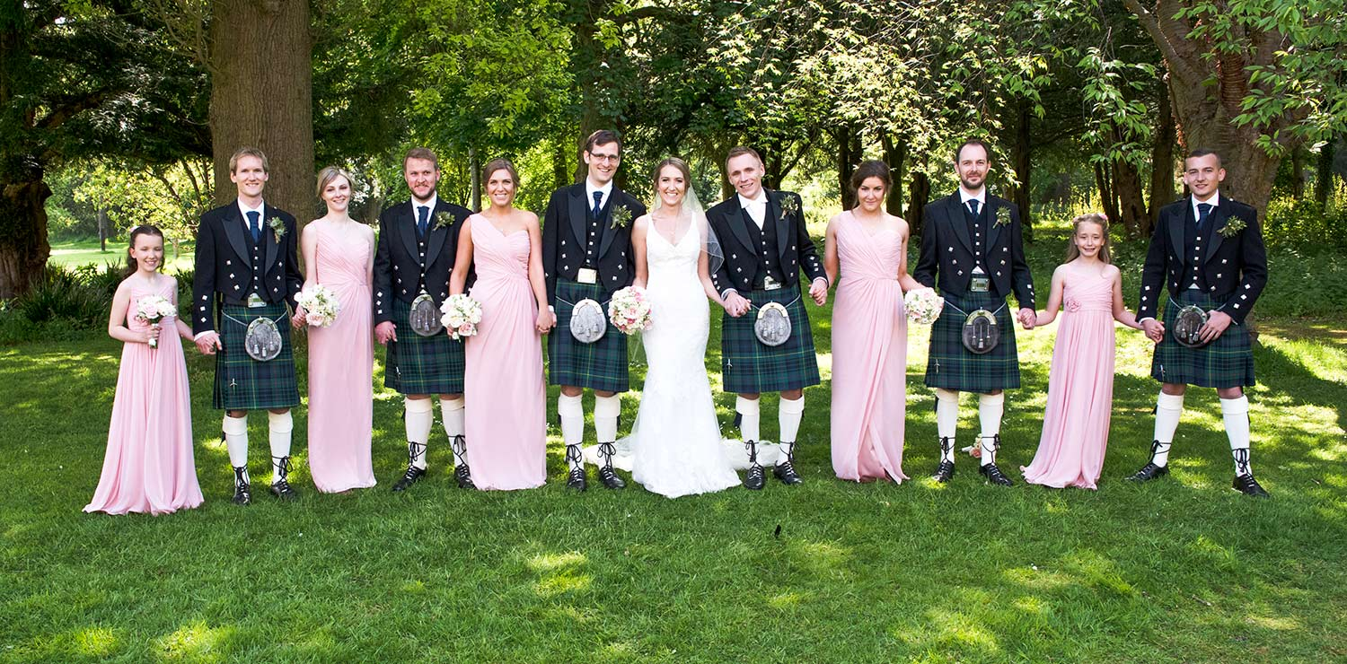 Bride and groom and the bridal party, how long to plan for group photographs
