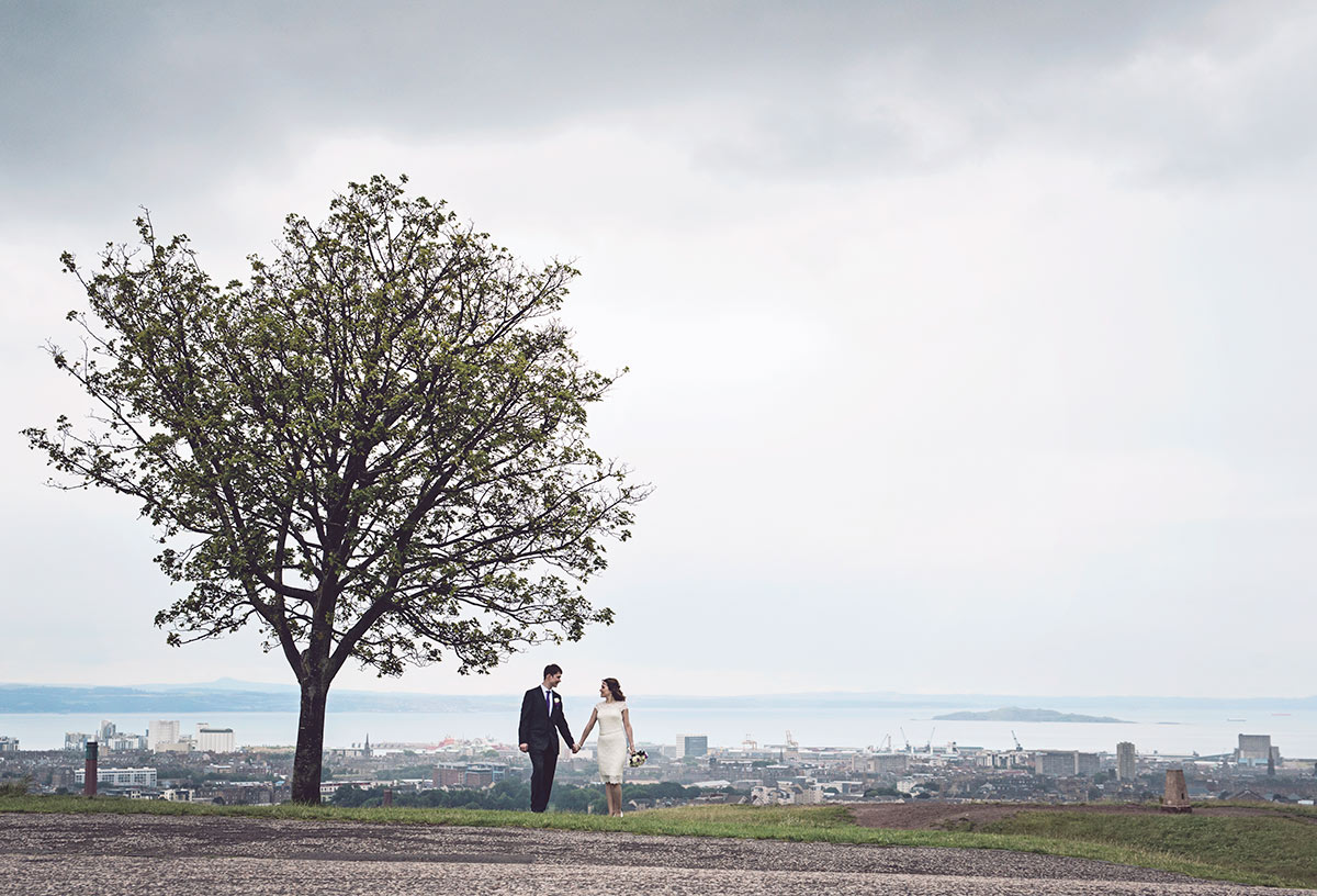 Calton Hill and the panorama of Edinburgh, guide to getting married in Edinburgh city centre