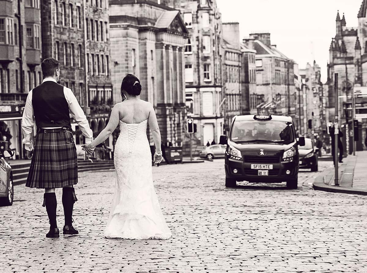 And then we went outside just after dinner, around 7.30 pm and the streets were almost empty, guide to getting married in Edinburgh city centre